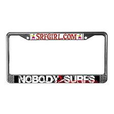 Nobody Surfs Like a California Girl License Plate