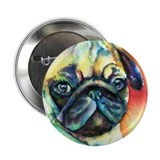 "Tan Pug Glamour 2.25"" Button (10 pack)"