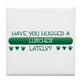 Hugged Lurcher Tile Coaster