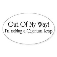 Quantum Leap Oval Decal