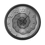 Wavy Metal Spiral Large Wall Clock