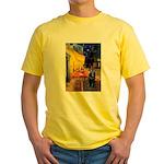 Cafe & Schipperke Yellow T-Shirt