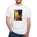 Cafe & Schipperke White T-Shirt