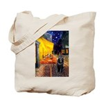 Cafe & Schipperke Tote Bag