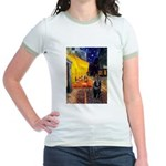 Cafe & Schipperke Jr. Ringer T-Shirt