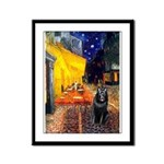 Cafe & Schipperke Framed Panel Print
