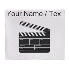 Custom Movie Director Cut Board Throw Blanket