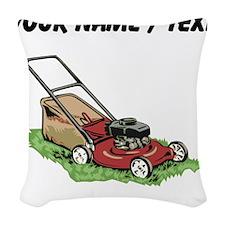 Custom Lawnmower Woven Throw Pillow