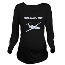 Custom Private Jet Long Sleeve Maternity T-Shirt