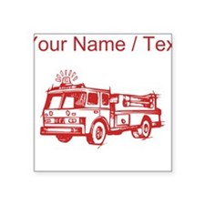 Custom Red Fire Truck Sticker