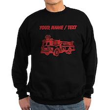 Custom Red Fire Truck Sweatshirt