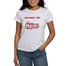 Custom Red Fire Truck T-Shirt