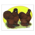 Red Silkies Small Poster