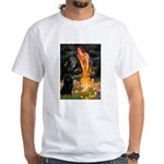 Fairies & Schipperke White T-Shirt
