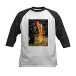 Fairies & Schipperke Kids Baseball Jersey
