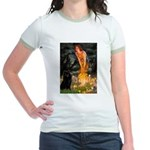 Fairies & Schipperke Jr. Ringer T-Shirt