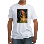 Fairies & Schipperke Fitted T-Shirt