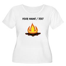 Custom Camp Fire Plus Size T-Shirt