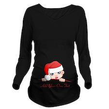 Santa Baby Maternity Long Sleeve Maternity T-Shirt