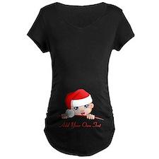 Santa Baby Maternity Zipper T-Shirt