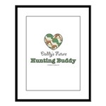 Daddy's Future Hunting Buddy Large Framed Print