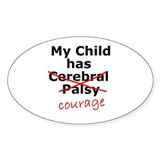 Courage Oval Decal