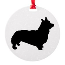 corgi black 3 Ornament