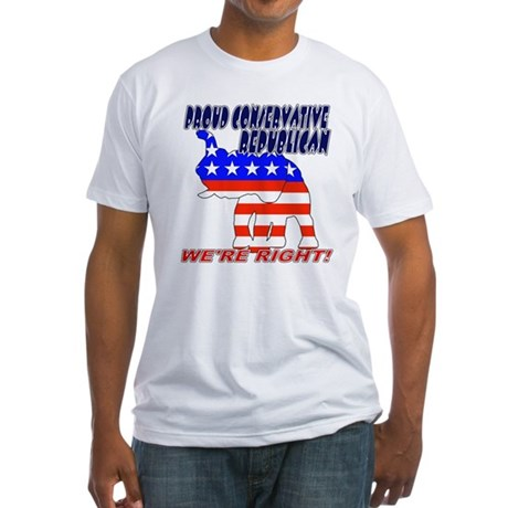 Conservative Republican GOP Fitted T-Shirt