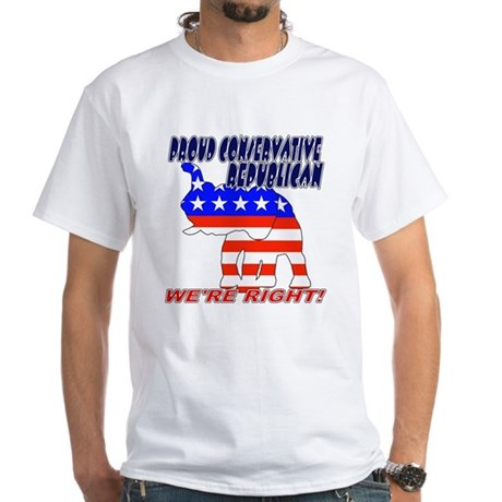 Conservative Republican GOP White T-Shirt