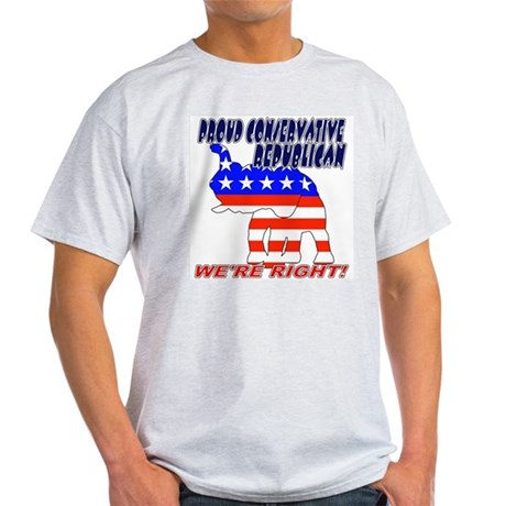 Conservative Republican GOP Ash Grey T-Shirt