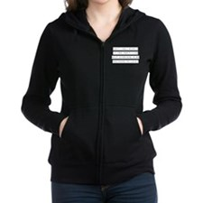 Don't Feel Stupid Women's Zip Hoodie
