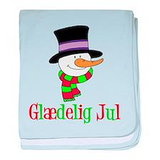 Glaedelig Jul Snowman Child baby blanket