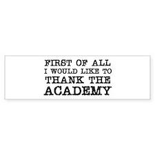 academy sticker 4-4 Bumper Bumper Sticker