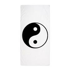 Cute Ying yang Beach Towel