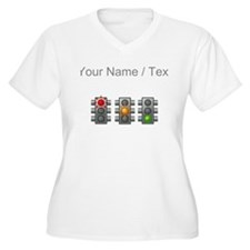 Custom Traffic Lights Plus Size T-Shirt