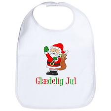 Glaedelig Jul Santa Child Bib