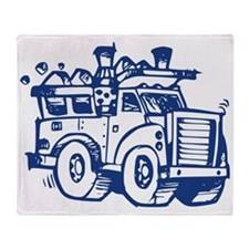 Garbage Truck Throw Blanket