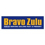 Navy Bravo Zulu Bumper Sticker