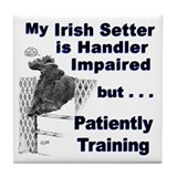 Irish Setter Agility Tile Coaster