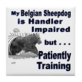 Belgian Sheepdog Agility Tile Coaster