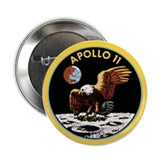 Space Christmas Gift Button Apollo 11 Patch