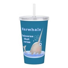 Narwhal Acrylic Double-wall Tumbler