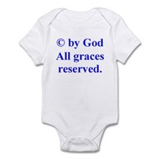 Blue Copyright by God Infant Bodysuit