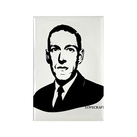 Strk3 H.P. Lovecraft Rectangle Magnet