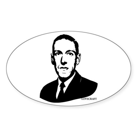 Strk3 H.P. Lovecraft Oval Sticker