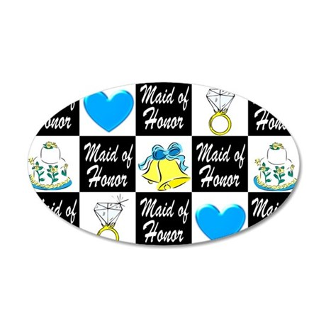 BLUE MAID OF HONOR 20x12 Oval Wall Decal