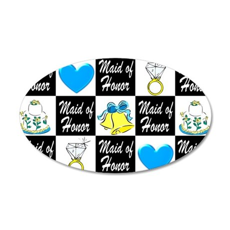 BLUE MAID OF HONOR 35x21 Oval Wall Decal