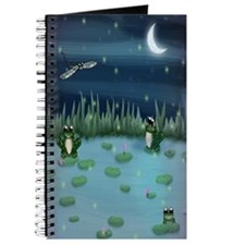 Frogs in lily pad Pond Journal