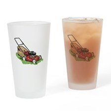 Lawnmower Drinking Glass