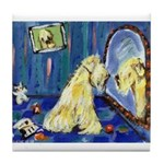 SOFT COATED WHEATEN TERRIER mirror Tile Coaster
